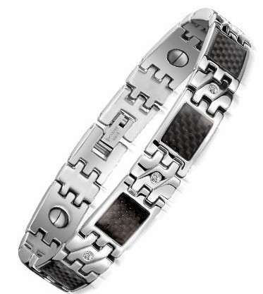 10MM Wide Mens Bracelets Stainless Steel Bracelet With Magnetic Stone Fashion Male Jewelry Accessories Health Care Men's Bangles(China (Mainland))
