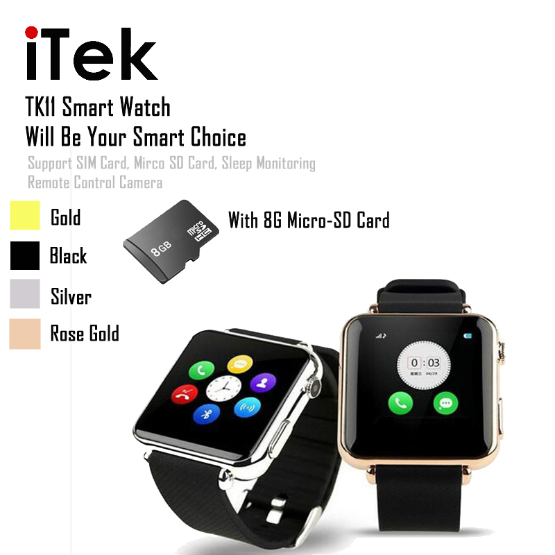 MTK6260A 2.5D Radian 1.54 Inch Smart HD Touch Screen Watch Push Messages for Android with SIM Card Calling 8G TF Card<br><br>Aliexpress