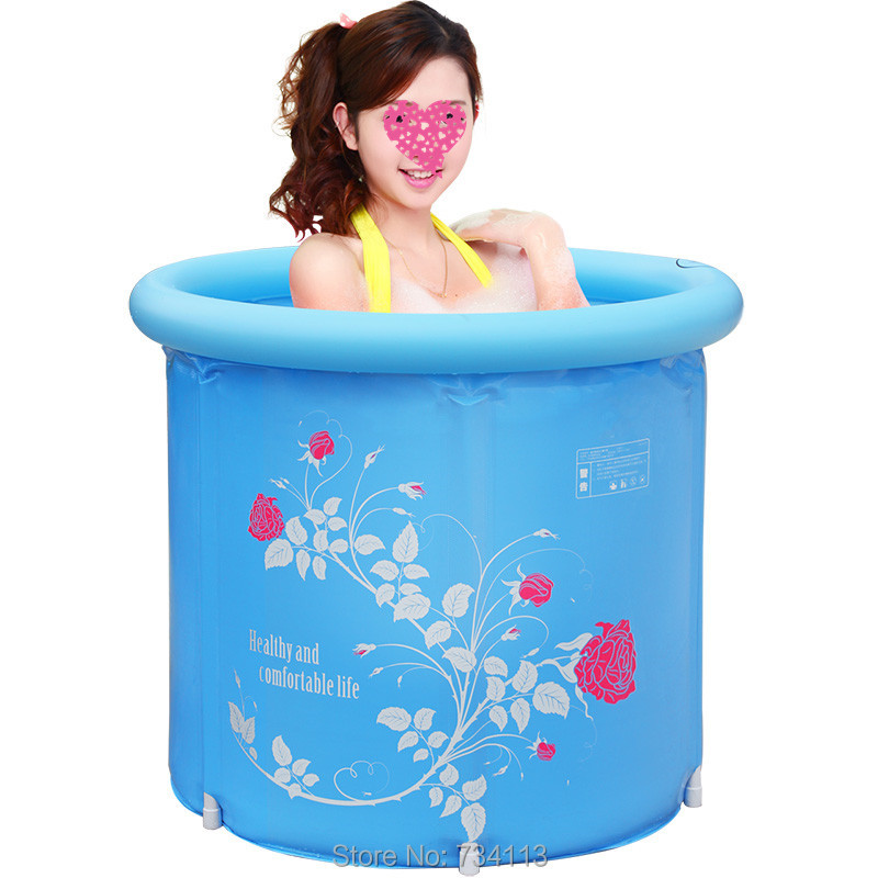 Inflatable tub folding barrel plastic inflatable adult children's bath tub thickening Portable bathtubs love better home SPA(China (Mainland))