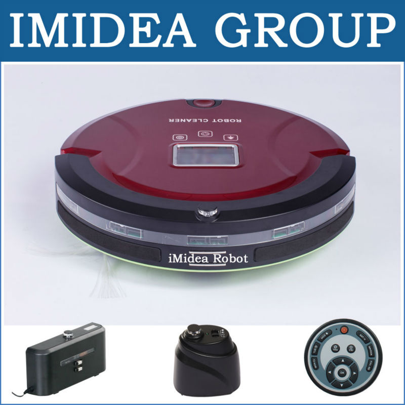 Free Shipping to Russia by Air, 5 in 1 Multifunctional Robot Vacuum Cleaner,LCD,Touchpad,Schedule,2 pcs Virtual Wall,Self Charge