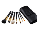 7pcs set Makeup Brushes Sets Wood Handle Multi Functional Brushes Kits Makeup Tools with Black PU