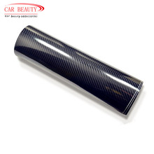 Car Sticker Glossy Black 5D Carbon Fiber Vinyl Wrap Film DIY Car Decorative For Vehicle Motorcycle(China (Mainland))