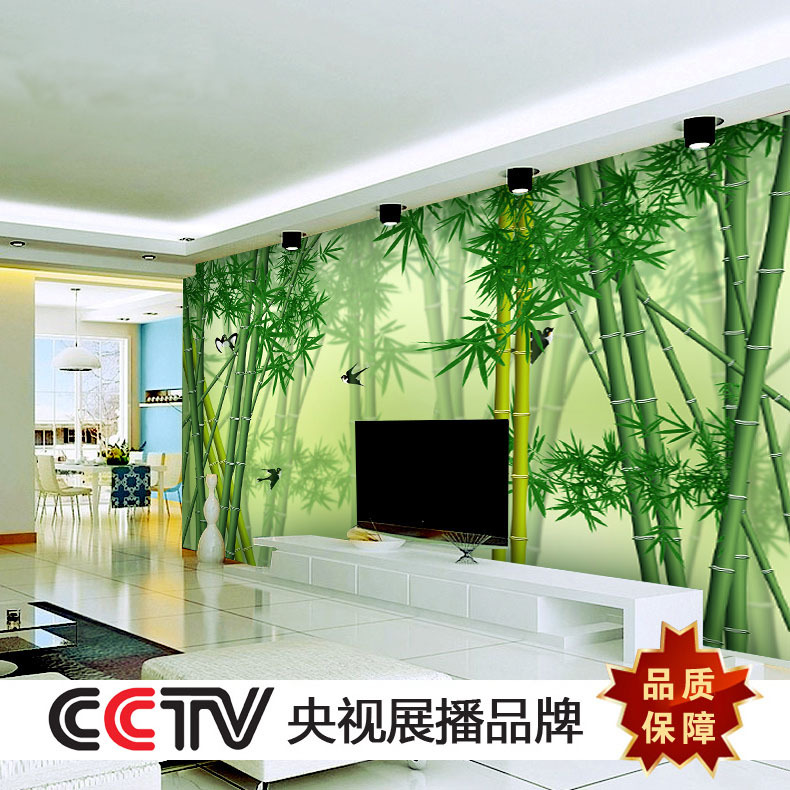 Buy customize any size 3d bamboo forest for Bamboo forest wall mural