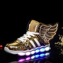 2016 Новый 25-37 Размер/USB Зарядка Корзина Водить Детей Shoes With Light Up Kids Повседневная Мальчики и девушки Светящиеся Кроссовки Светящиеся Обуви(China (Mainland))