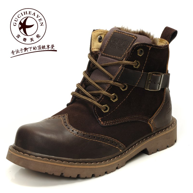 Mens Leather Winter Boots