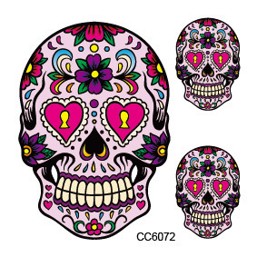 Mini Body Art waterproof temporary tattoos for men women Skeleton design flash tattoo sticker wholesale CC6072