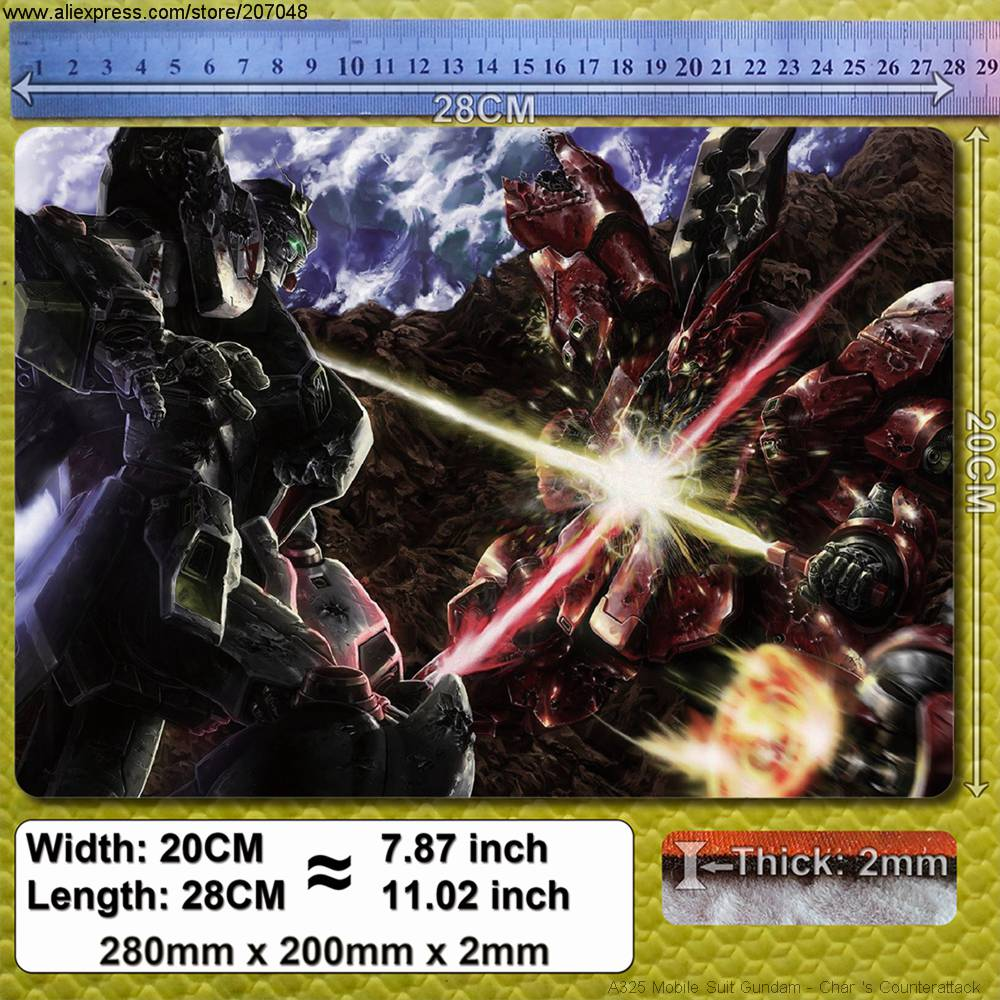 Decoration Place Pad for Anime A325 Mobile Suit Gundam – Char 's Counterattack Mouse Mat 28 x 20 x 0.2 cm