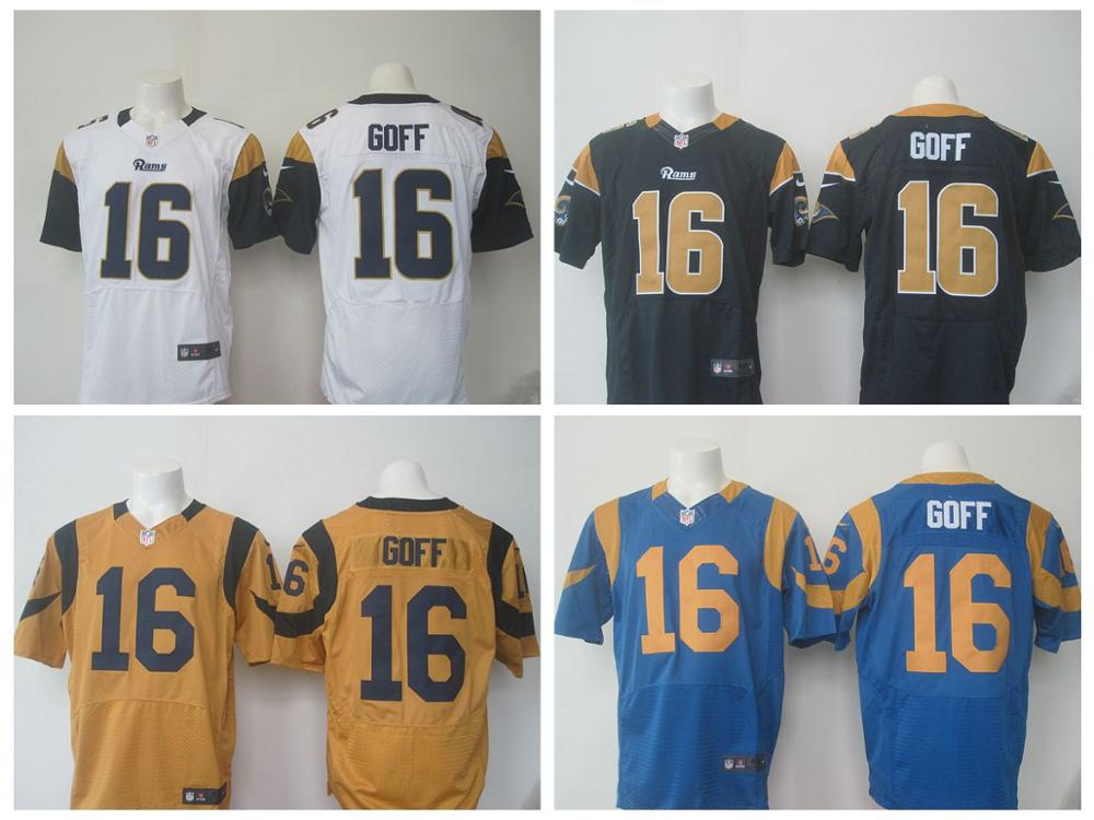 Top A Best quality 100% Stitiched,Los Angel Rams,2016 New Draft,Jared Goff,Eric Dickerson(China (Mainland))