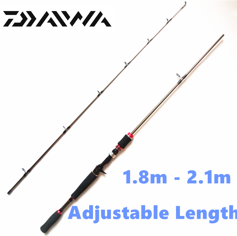 Free shipping adjustable length casting rod new for Shipping fishing rods