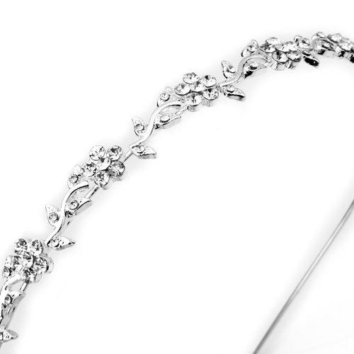 Скидки на TFGS 10 x (Посеребренные Кристалл Свадебные Повязка Tiara Волос Группа Леди Мода
