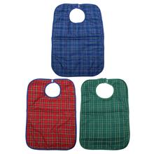 New Hot Sale Waterproof Large Adult Mealtime Bib Clothes Clothing Protector Dining Cook Apron Ajustable(China (Mainland))