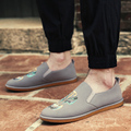 Chinese style Casual Loafers Men Low Heel Outdoor Driving Shoes Slip On flat With Sneakers Slip