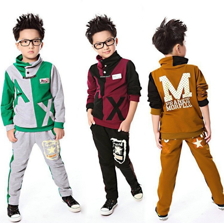 Children suits boy suit Spring Autumn Children's casual sweater Tracksuit set coat+pants Boys costume - Online Store 923589 store