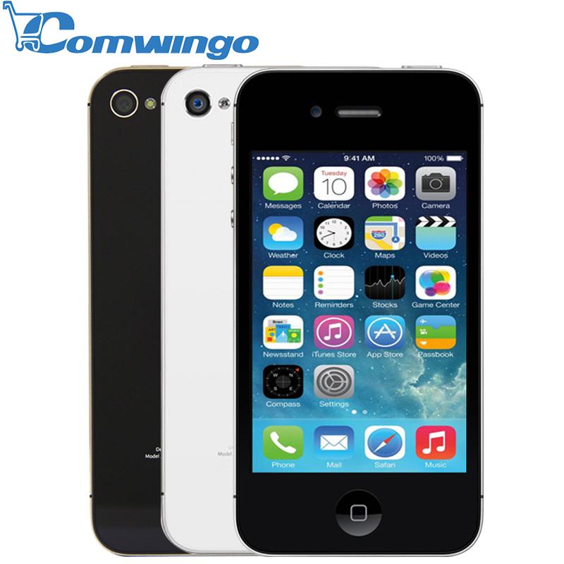 Original Unlocked Apple iPhone 4S phone 8GB/16GB /32GB ROM White Black iOS GPS WiFi GPRS Free Gift Free shipping 1 year warranty(China (Mainland))