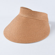 SHOWERSMILE القش قناع كاب الإناث البيج واسعة حافة قناع تنس كاب النساء تنفس السيدات قبعة الجولف الشمس حماية قبعة بواقٍ للشمس(China)