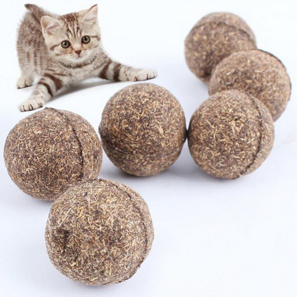 1 PCS Cat Natural Catnip Ball Playing Toy Catmint Menthol Flavor 100% Treats Healthy Safe Edible Treating Play Ball PT0107OE(China (Mainland))