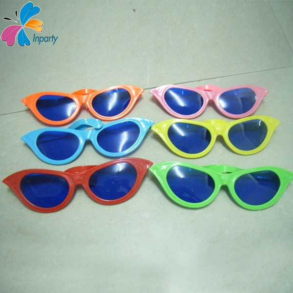 Inparty Tip Tail Shape Funny Festival Big Glasses Hallowmas Novelty Glasses Literally Plastic Demonstration Glasses GL06062907(China (Mainland))