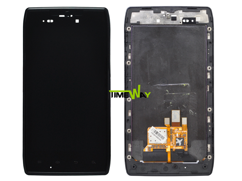 10PCS/LOT FREE DHL/EMS For Motorola Droid Razr XT910 LCD Display with touch Screen Digitizer Assembly + Frame(China (Mainland))