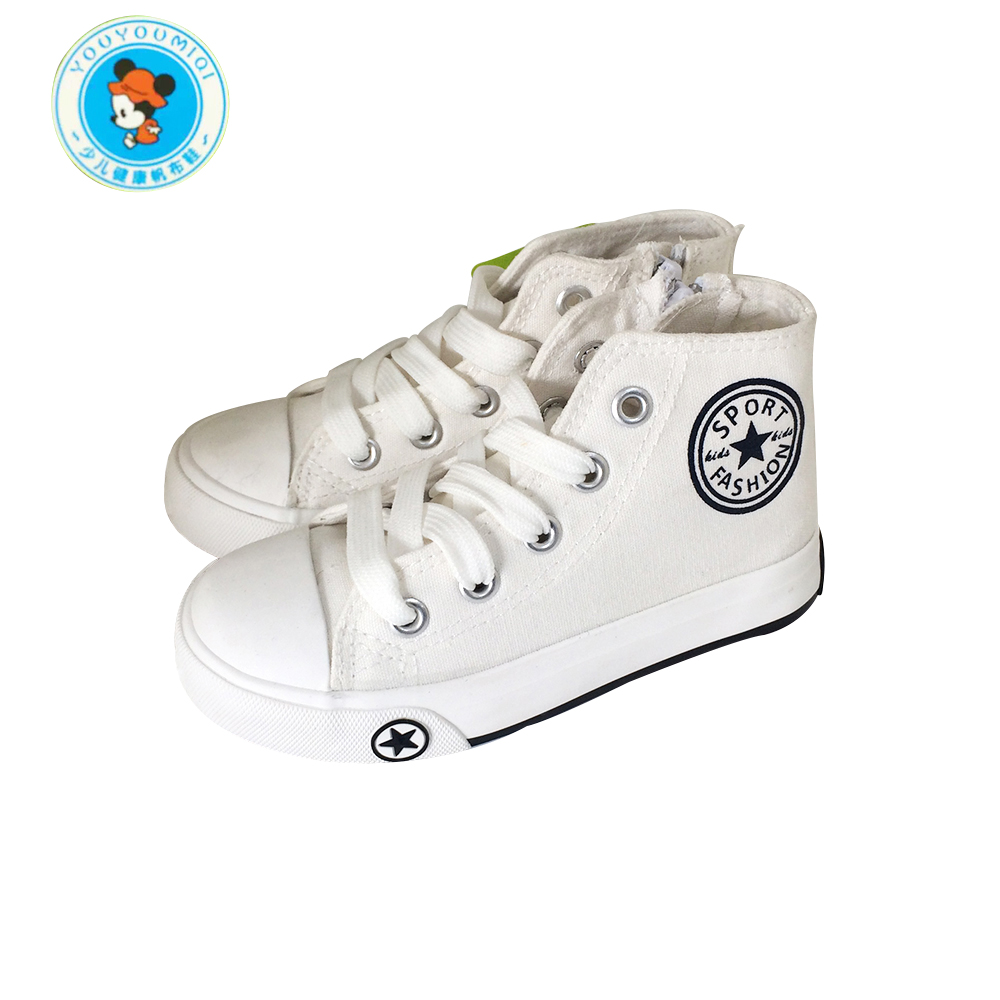 New children canvas shoes for kids baby boys girls flat high children