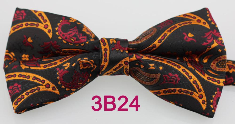 YIBEI Coachella Ties 2015 Black Orange Red Paisley Bow Male Jacquard Woven Butterfly Unisex Adjustable Borboleta Marriage - Shanghai Yibei Garment Co.,Ltd store