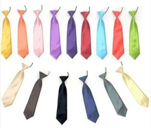FREE SHIPPING Wholesale Satin Elastic Neck Tie for Wedding Prom Boys Children School Kids