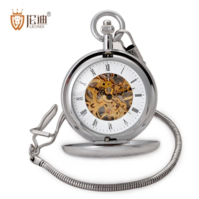 Pocket watch exquisite carved mechanical pocket watch cutout male women's pocket watch
