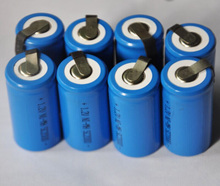 20%OFF 8pcs/Lot  Sub C size 1.2V SC Ni-Mh rechargeable battery cell 2000mah with tab top quality free shipping