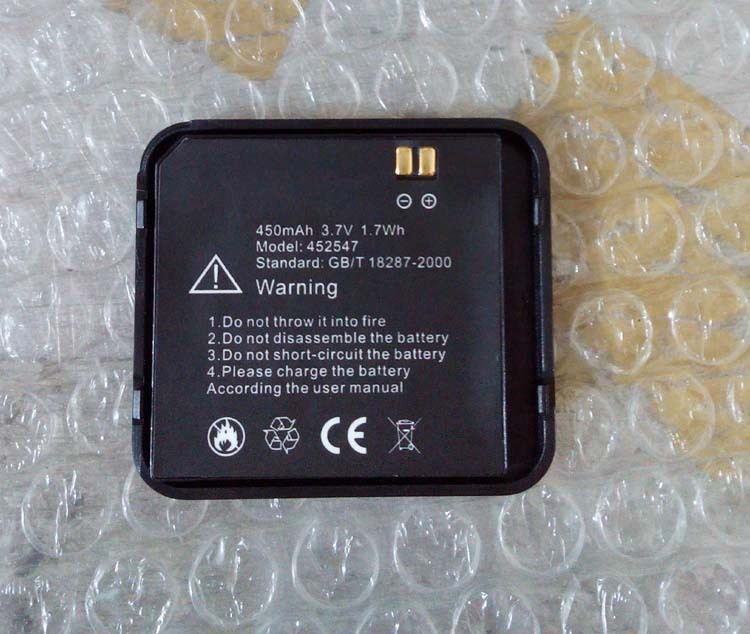 Original Watch phone S39 battery 450mah 3.7V for android smart watch S39 bluetooth 3.0 1.54 inch touch screen-free shipping(China (Mainland))