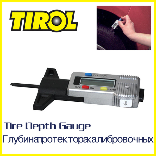 TIROL Holiday Sale T20301b Digital LCD Tire Tread Depth Gauge Promotion