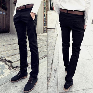 2013 autumn male trousers harem pants fashion black skinny slim casual - shao qing's store