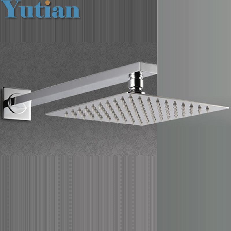 Free Shipping 20cmx20cm Rain Shower.Ultra Thin Rain Shower Head with arm & Chuveiro Ducha With 42cm Arm.Accessorie Banheiro(China (Mainland))