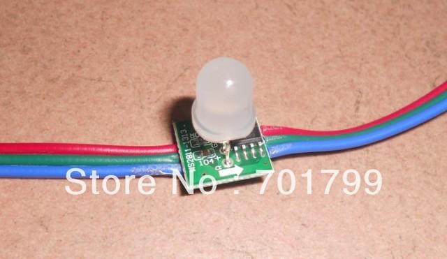 WS 2811 pixel node,50node a string, non-waterproof,DC5V input;