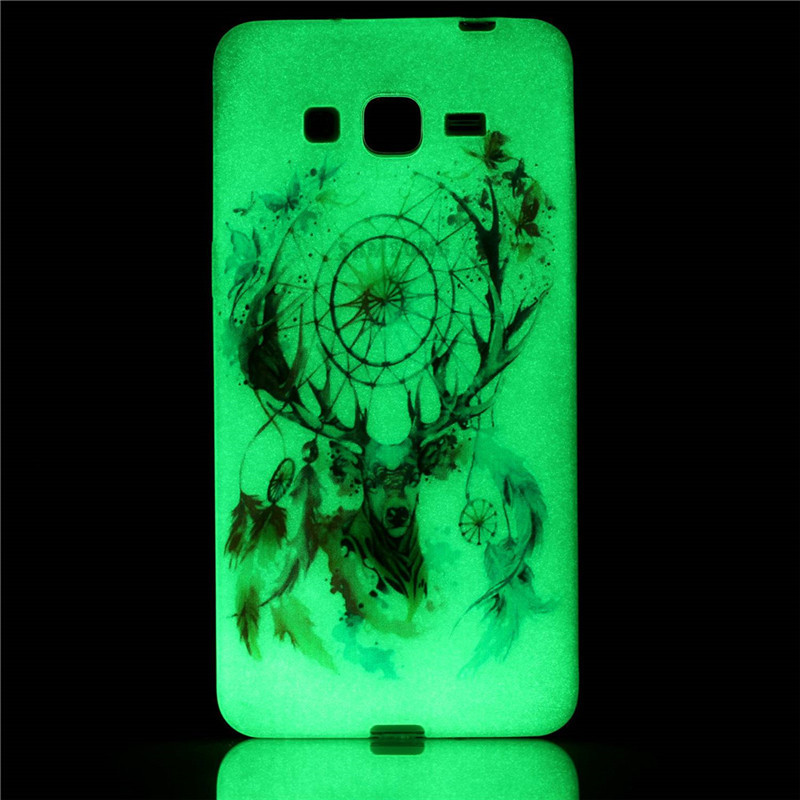Luminous Case For Samsung Galaxy Grand Prime G530 G5308Q Ultra-thin Night Light Soft Gel Silicone Phone Cover Conque (