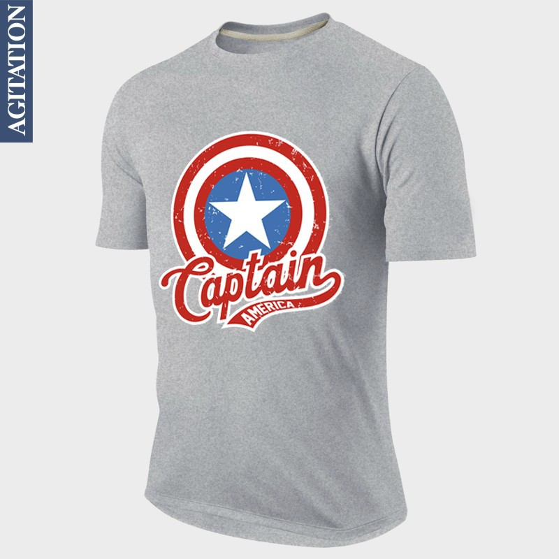 Fashion Design T shirt Pastel Captain America The First