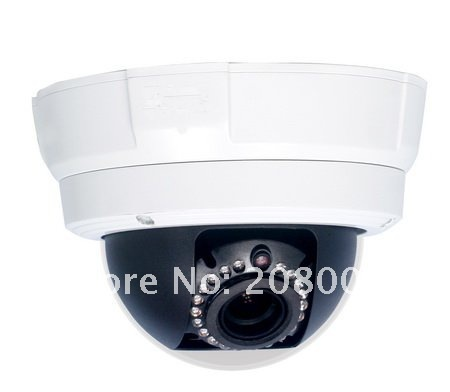 CMOS MP Vandal Proof Dome IP Camera (WDR,  Low Light) support POE ,Dome IP Camera, Free shipping(not including remote areas)