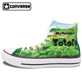 Anime Converse All Star Men Women Shoes My Neighbor Totoro Design Hand Painted Shoes Sneakers Miyazaki