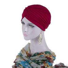 Женская стрейчевая повязка на голову AWAYTR, завязанный тюрбан-бандана, повязка для волос, мусульманский хиджаб(China)