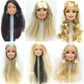 NK One Pcs Style Doll Head Black Hair DIY Equipment For Barbie Kurhn Doll Greatest Woman' Reward Baby DIY Toys 024I