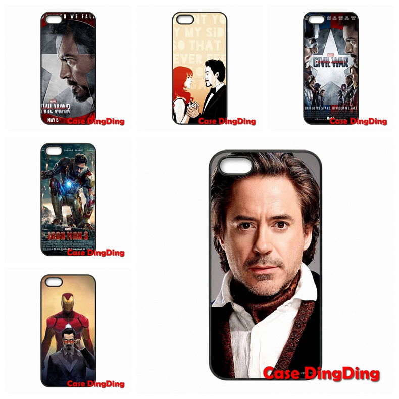 accessories Pouches The Iron Man Robert Downey Jr For iPhone 4 4S 5 5C SE 6 6S Plus Apple iPod Touch 4 5 6 Moto X1(China (Mainland))