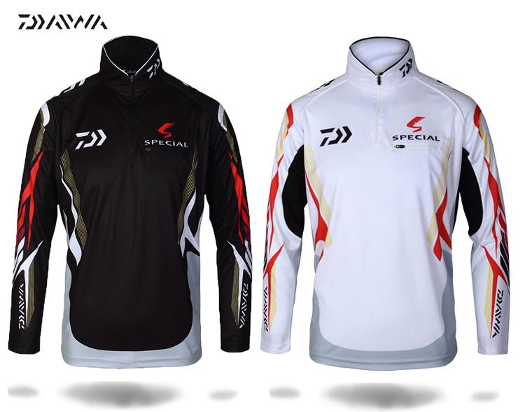 Long sleeved dawa daiwa fishing clothing quick drying for Uv protection fishing shirts