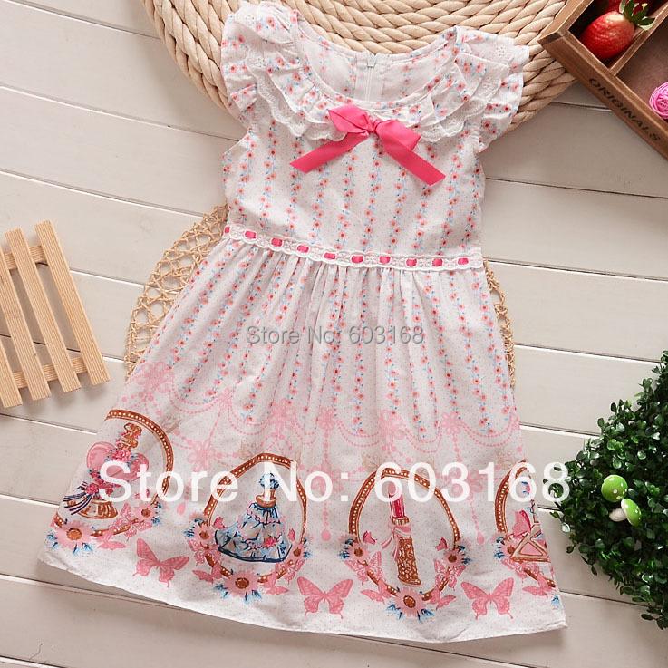 Lace Preppy Style Classic White Cotton (6Pcs/Lot) Princess Dresses/Children Wear Girls Dresses{iso-13-4-9-A2}<br><br>Aliexpress