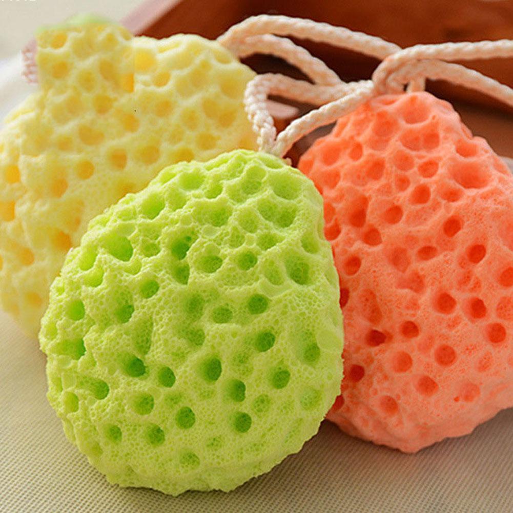 New Baby Kids Bath Brushes Bath Sponge Massage Baby Shower Exfoliating Body Cleaning Scrubber Q2