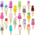 7 in 1 Handmade Outfit Style Costume Tops Coat Skirt Socks Belt Footwear Bag Equipment For Barbie Doll Garments Child Toy Present
