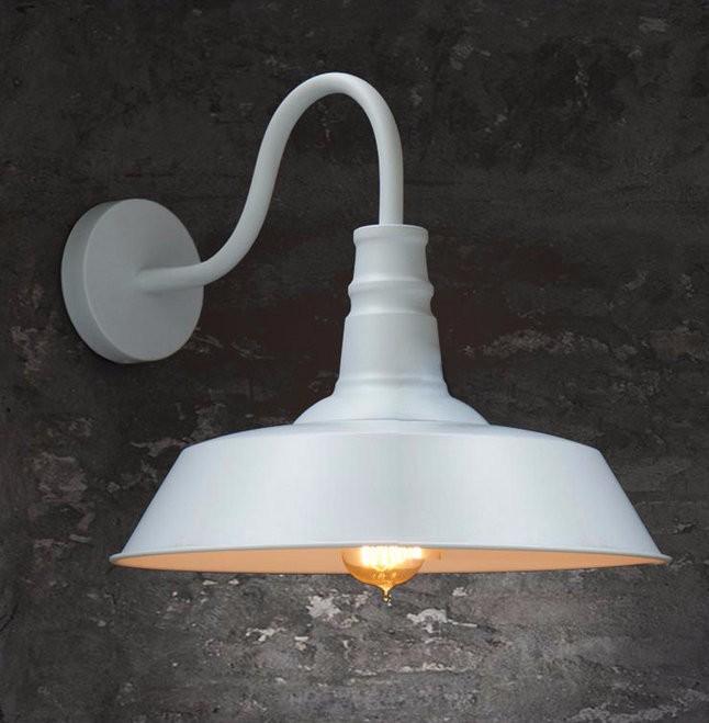 Купить 2016 Лампы Светодиодные Бра Свет Чердак Ретро Американский Стиль Страна Старый Стиль Черный Или Белый Горшок Покрытия Настенные Лампы