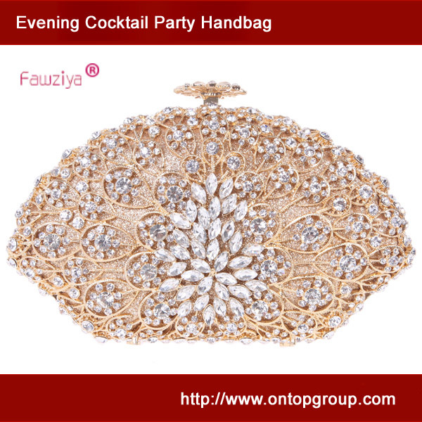 Fawziya metal hollow out flower sea shell evening clutch bag <br><br>Aliexpress