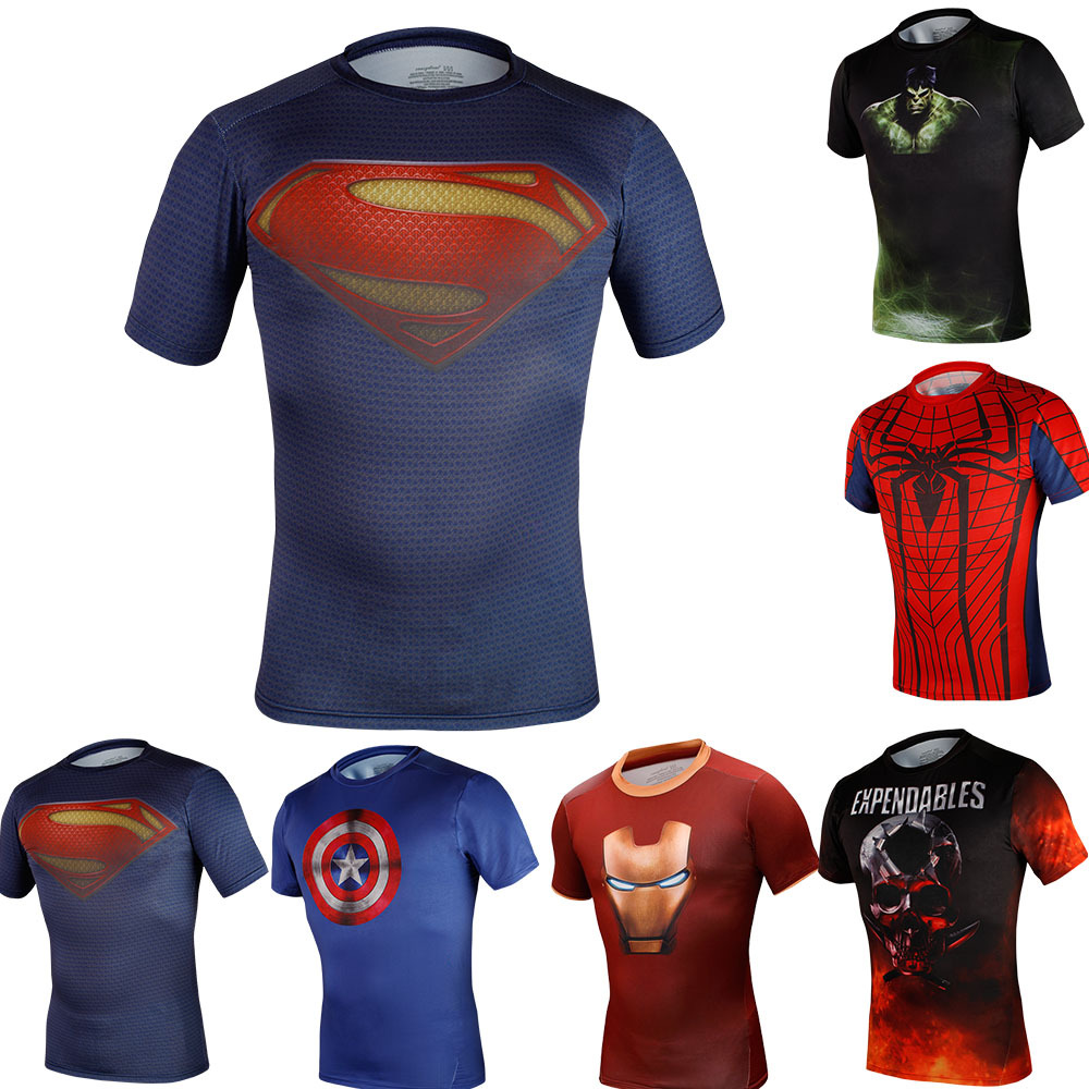 Men Compression Tights T shirts Outdoors Sport Tees Running Shirts Gym Clothing Fitness Clothe Bodybuilding Jerseys - pxsports soccer store