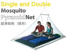 Single Double Outdoor Mosquito Net Camp travel Shield Pyramid Tent Netting Garden Fly Screen Shelters Survival kit