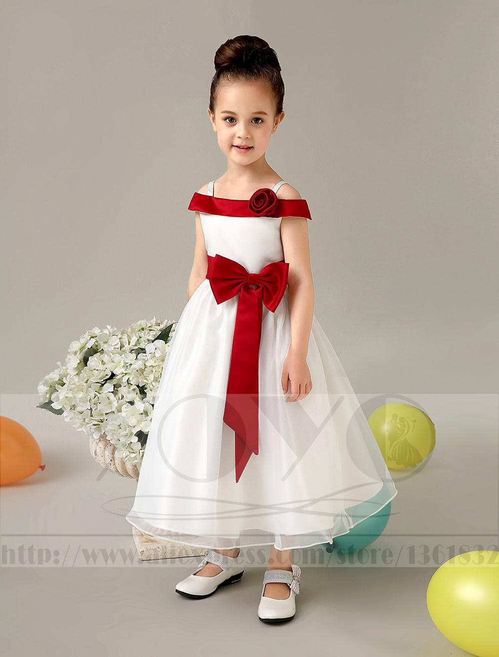 Скидки на -Линии атласная и тюль кот свадебный цветок девочки Платья маленькие девочки платья элегантный дети девушки вечерние платья с sash