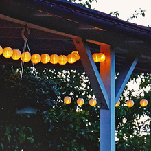 Colorful Solar Powered Lantern String Lights Outdoor Sensor Solar String LED Lights Solar Panel Christmas Decoration(China (Mainland))