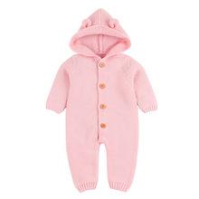 Одежда для маленьких девочек 2019 г. вязаный зимний комбинезон для новорожденных мальчиков и девочек, комбинезон, одежда roupa infantil menina(China)
